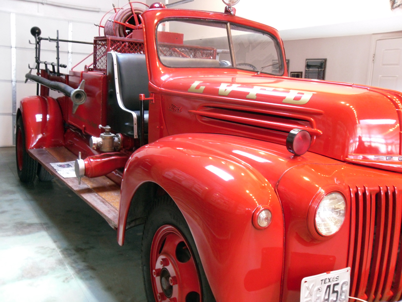 This restored 1942 Ford Fire Truck is on display in the museum on the town square.