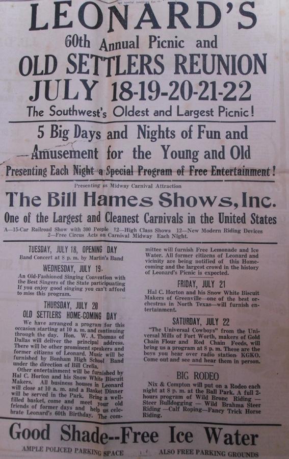 Vintage Leonard Picnic Ad