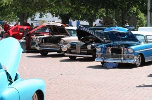 Vintage Car Show at the Leonard Picnic.