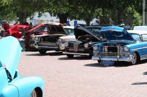 Vintage Car Show at the Leonard Picnic.