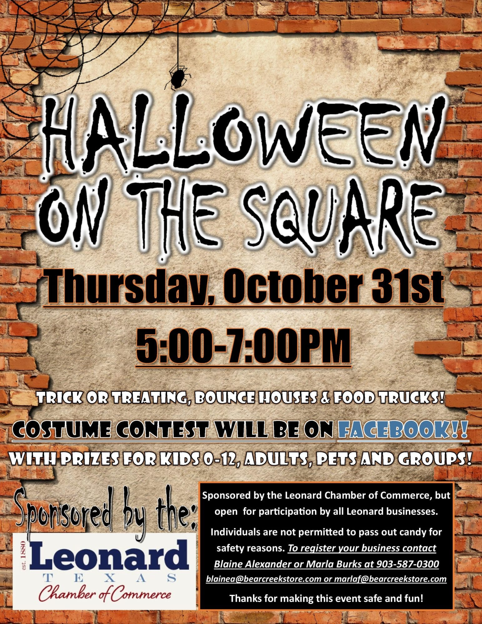 2019 Halloween on the Square Flyer