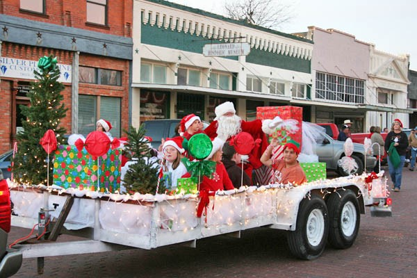 Santa at our annual Christmas Parade.